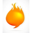Hot speech bubbles with fire vector image vector image