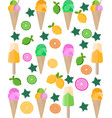 ice cream citrus background pattern vector image vector image