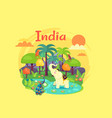 indian nature poster devoted to independence day vector image