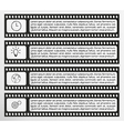 infographic filmstrip vector image