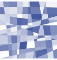 isolated abstract blue and white color unusual vector image vector image