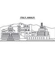 italy amalfi line skyline vector image vector image