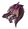 jackals head vector image vector image