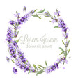 lavender wreath card watercolor flowers vector image vector image