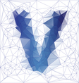 letter V low poly vector image vector image