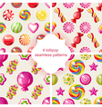 lollipop patterns vector image vector image