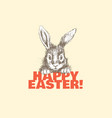 lovely easter bunny vector image vector image
