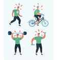 male sports cardio and exercise vector image