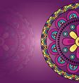 mandala floral decoration ethnic design vector image vector image