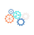mechanical gear wheels icon in flat style vector image