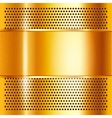 Metal sheet gold vector image