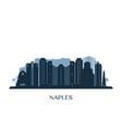 naples usa skyline monochrome silhouette vector image vector image