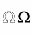 ohm symbols vector image vector image