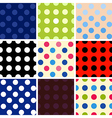 Polka dot background set vector image