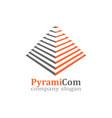 pyramid emblem design vector image vector image