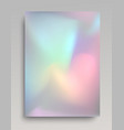 realistic shining holographic foil vector image vector image