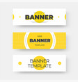 rectangular horizontal web banner template vector image vector image
