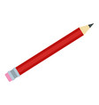 red pencil icon flat style vector image vector image