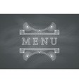 Restaurant Menu Headline with Chalkboard vector image vector image
