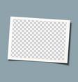 retro frame template design transparent picture vector image vector image