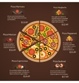 Round pizza with different sort slices and vector image vector image