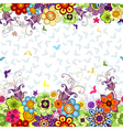 Seamless white floral spring pattern vector image