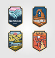 set national park outdoor adventure vintage vector image vector image