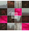 Set of blurred backgrounds landscape vector image vector image