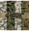 Set of camouflages vector image vector image