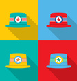 Set of Hats On Colorful Background vector image vector image
