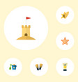 Set of season icons flat style symbols with pail
