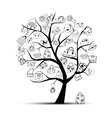 shopping bags on tree vector image vector image