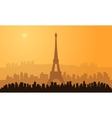 silhouette of paris city vector image vector image
