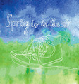 Spring is in the air vector image vector image