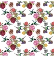 Tropical floral watercolor seamless pattern with vector image vector image