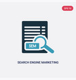 two color search engine marketing icon from vector image