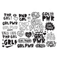 typography slogan girl power text decorative vector image