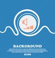 volume sound sign icon Blue and white abstract vector image