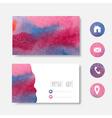 watercolor businee card vector image vector image