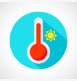 weather hot icon vector image