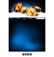 web site template vector image vector image