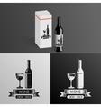 Wine Alcohol Drink Logo Symbol Bottle Glass vector image vector image