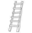 wooden ladder vector image vector image