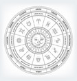 zodiacal circle with astrology signs vector image vector image