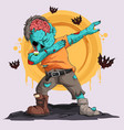 zombie doing dabbing dance with bats around him vector image vector image