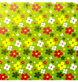 Simple flower pattern colorfulness cute vector image