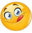 yummy emoticon vector image