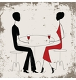 Man ad woman in a restaurant vector image