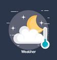 rainy weather status icon vector image