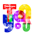 Thank you letters for you design vector image
